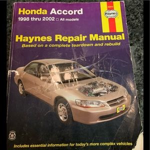 Honda Accord 1998-2002 Haynes repair Manual